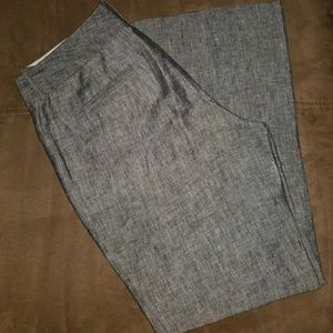Banana republic silver gray & black dress slacks